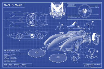 Speed Racer Mach 5 Blue Prints