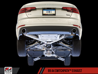 3025-32014 - AWE Tuning Exhaust - SwitchPath - Audi A4 Insane Upgrade