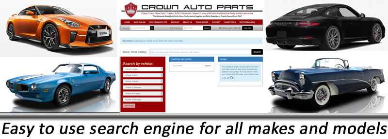 Crown Auto Parts Search features