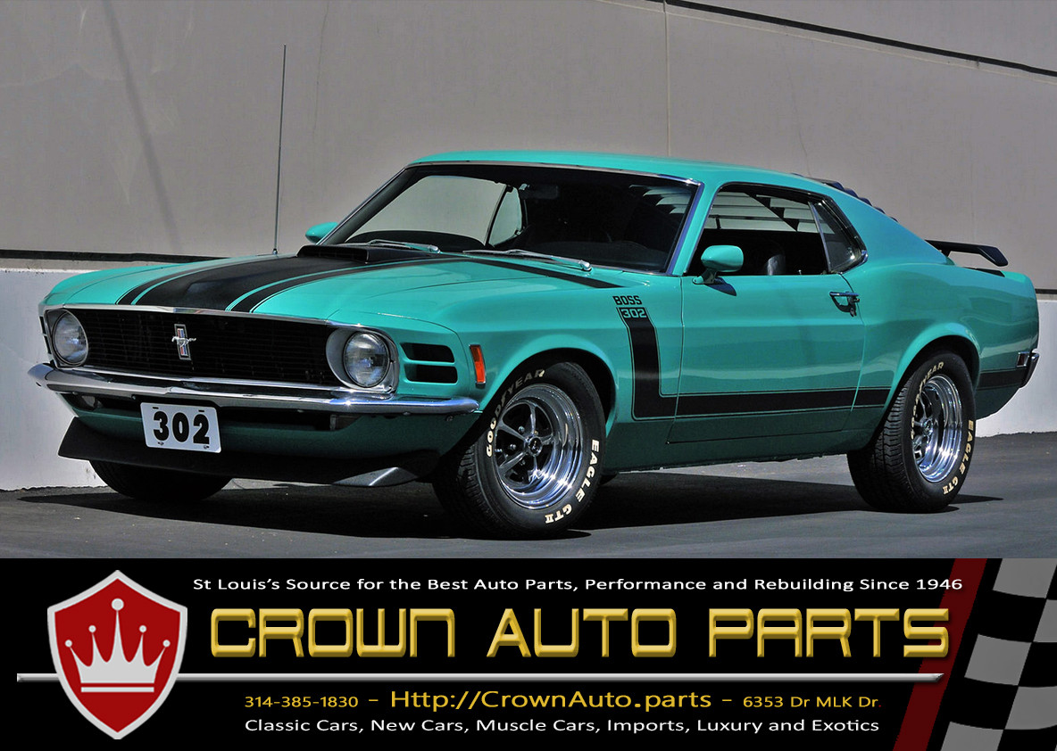 Crown Auto Parts Ford Mustang Boss parts rebuilding
