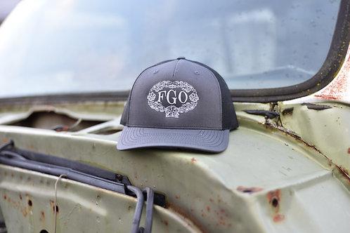 """""""FGO"""" Floral  - Embroidered Snap Back Hat"""