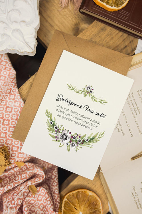 Přání Svatební sasanky
