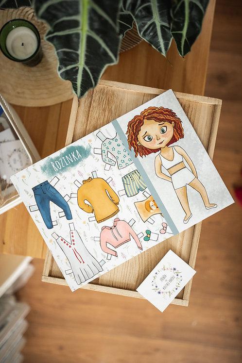 Vystřihovánky - papírové panenky