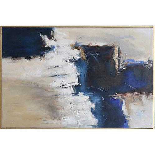 Handpainted Framed Lynn Abstract