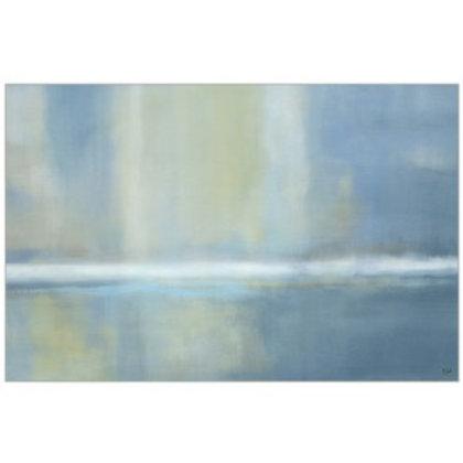 Serene Sea Framed Canvas Oversized