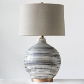 The Betsy Table Lamp w/ Natural Linen Shade