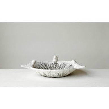 Handmade terracotta large bowl with birds