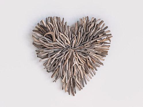 Driftwood Heart Wall Decor