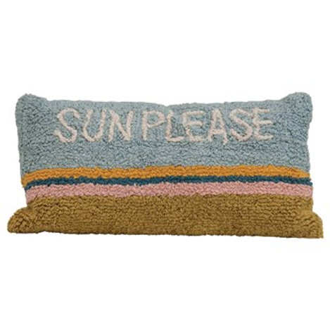 """Sun Please"" Rectangle Cotton Pillow"