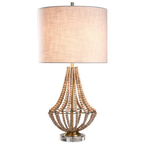 James Wood Bead Lamp