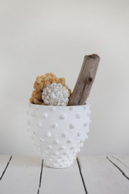 Textured Terracotta Polka Dot Pot