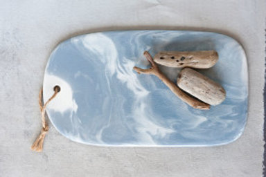 Ceramic Cutting Board with Marble Glaze Finish