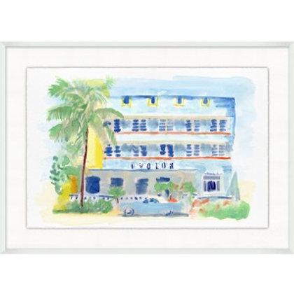 Florida Hotel Watercolor