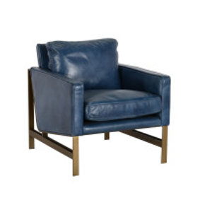 Leather Navy Chair