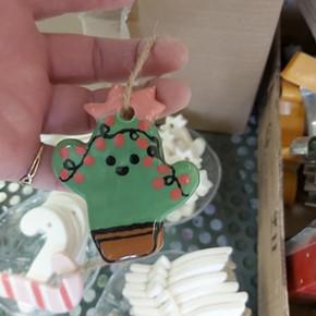 9121Little Cactus Ornament $12