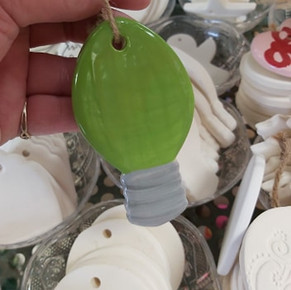 Light Bulb Ornament $12