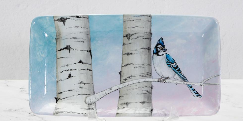 Designer Dish - May - Blue Jay in Birch