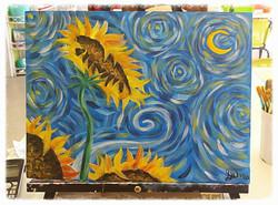 Van Goh Sunflowers