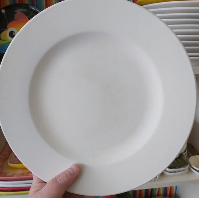 """11"""" Rimmed Dinner Plate $35"""