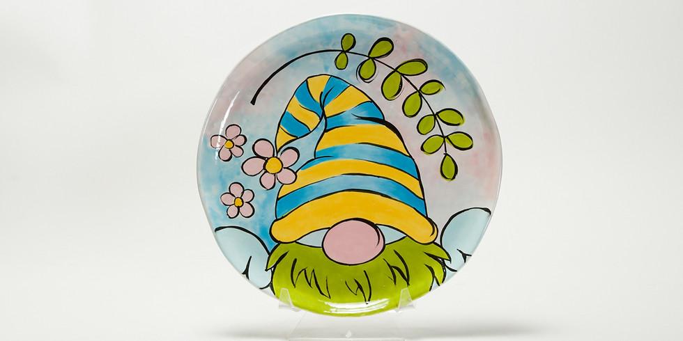 Facebook Live Class - Spring Gnome Platter