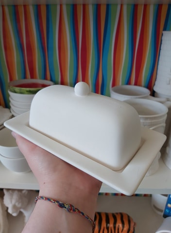 Rimmed Butter Dish $32