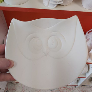 Large Owl Plate $32