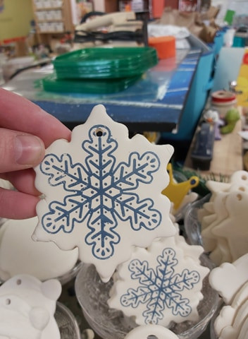 Detailed Snowflake Ornament $12