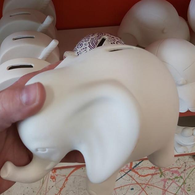 Tall Elephant Bank $32