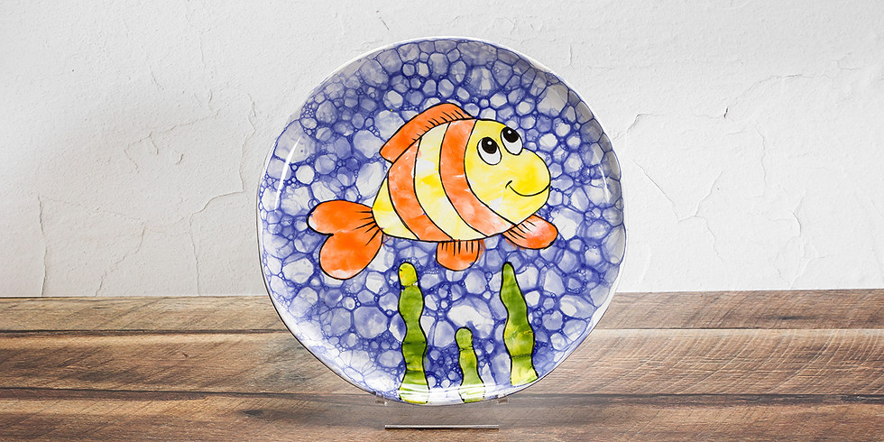Spring Break Crafter-noon - Bubbles Fish Plate