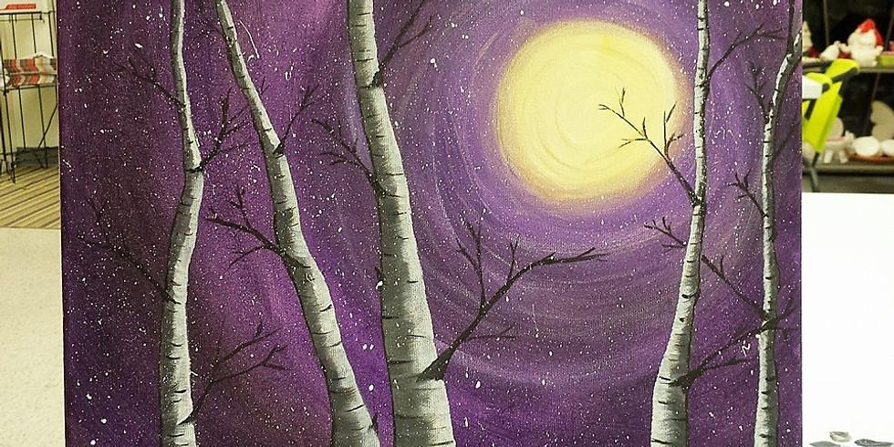 Beautiful Birch Trees Canvas