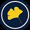 loose leaf editing logo, gingko leaf