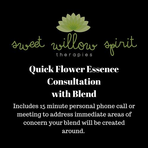 Quick Flower Essence Consultation w/Blend