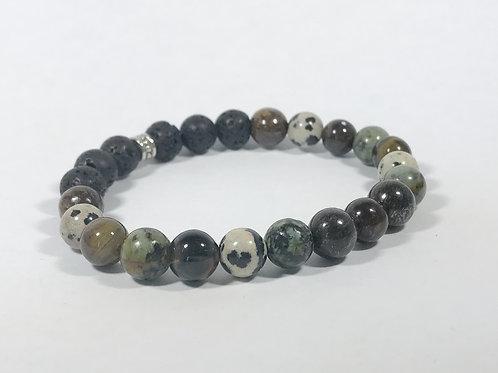 Turquoise, Bronzite, Dalmatian Jasper & Tigers Eye