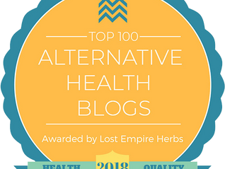 Named One of the Top 100 Alternative Health Blogs