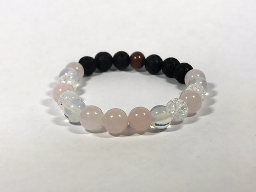 Rose Quartz, Opalite & Quartz