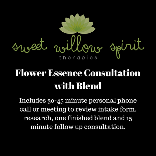 Flower Essence Consultation w/Blend