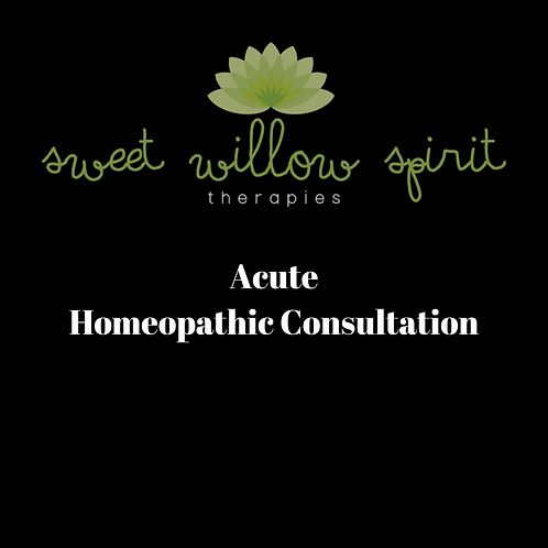 Acute Homeopathic Consultation