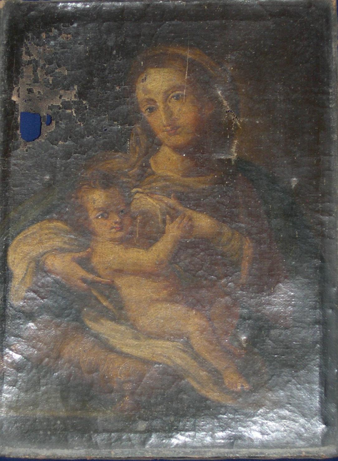 """""""Vierge du lait"""" XVII éme siècle"""