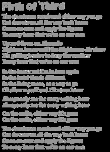 Firth Of Third Lyrics