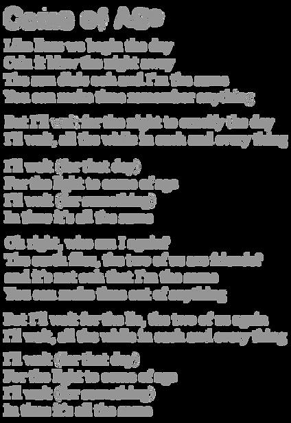 Come Of Age Lyrics