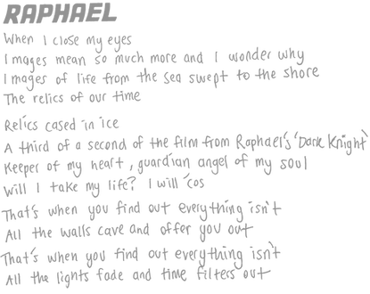 Amusement Parks On Fire Raphael Lyrics