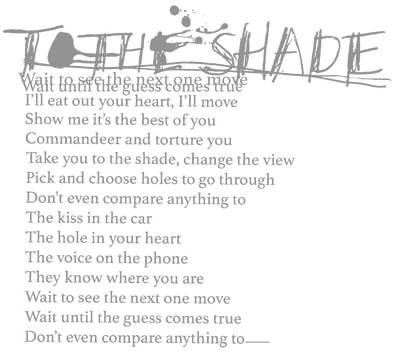 To The Shade Lyrics