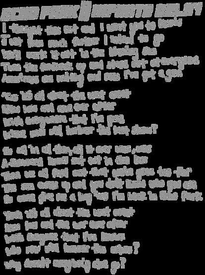 Echo Park Infinite Delay Lyrics