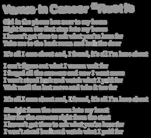 Venus In Cancer Lyrics