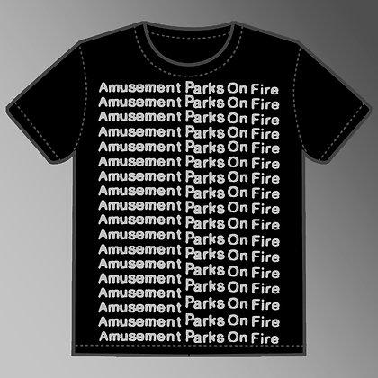 Black T-Shirt w/ Silver Print