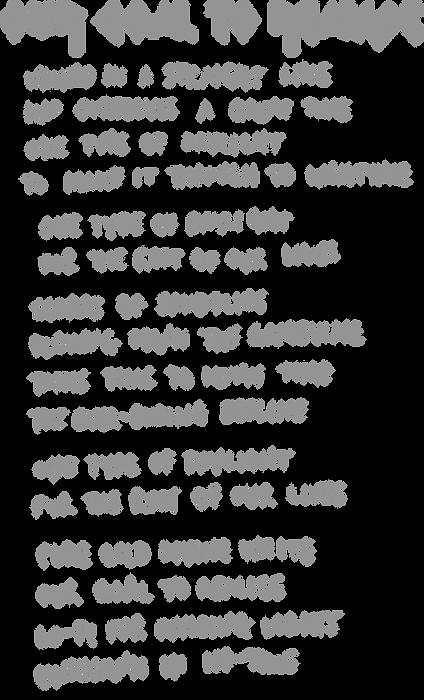 Our Goal To Realise Lyrics
