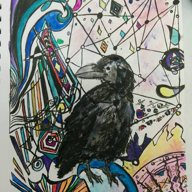 Psychedelic Crow