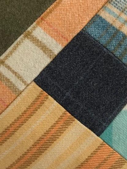 Green & Orange Block Work Pillow