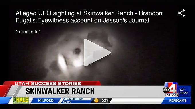 Alleged UFO sighting at Skinwalker Ranch