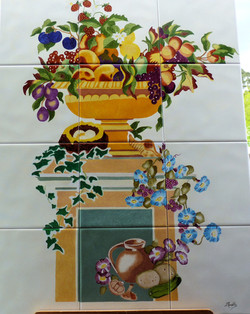 Vasque florale